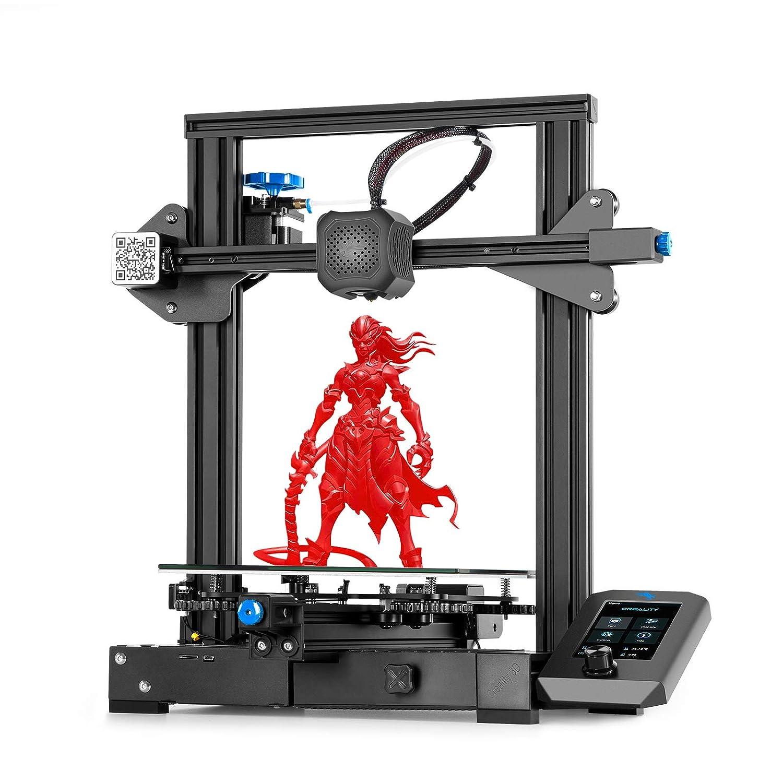Stampante FDM 3D con Scheda Madre Silenziosa Stampante 3D Creality Ender 3 V2 220x220x250mm Nuova Piattaforma di Vetro Carborundum del Sistema UI di Funzionamento