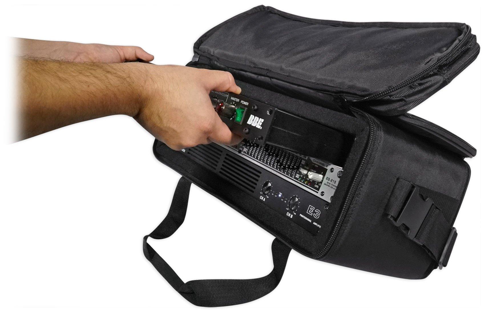 Rockville 3U Rack Bag Double-Sided Case with 12'' Depth + Shoulder Strap (RRB30) by Rockville (Image #8)