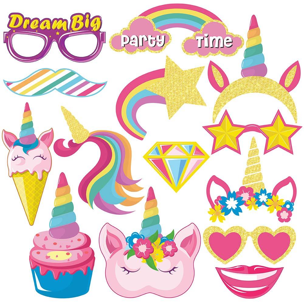 Decorazioni Adesivi per Feste con Tema Unicorno Sterling James Co Bomboniere e Forniture per Il Compleanno con Tema Unicorno