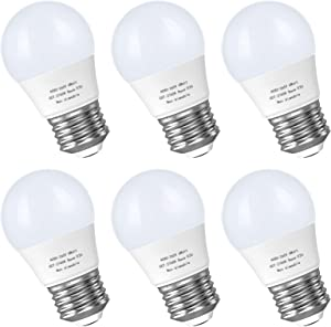 6W A15 Led Blulb 60 Watt Incandescent Equivalent, 2700K Warm White, 550 LM Appliance Light Bulb, E26 Base Ceiling Fan Light Bulbs, Refrigerator Bedroom Kitchen Lighting Non-Dimmable, 6 Pack