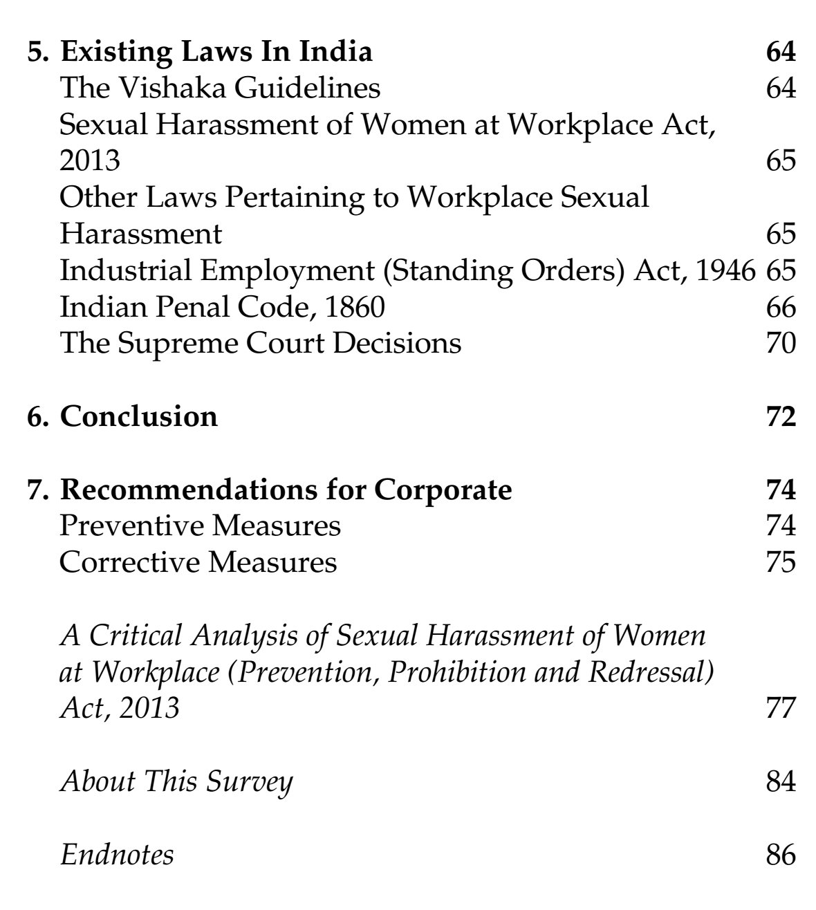 Essays on sexual harassment