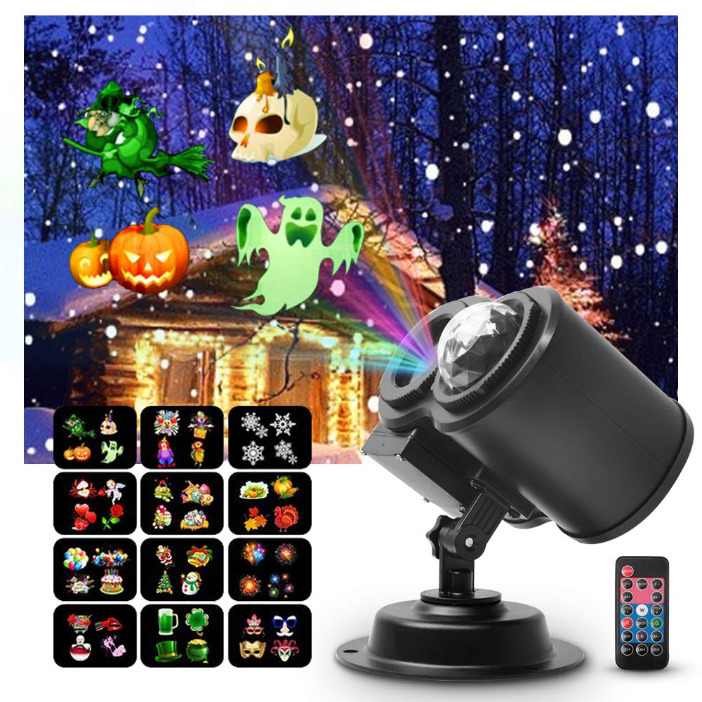 Halloween Projector Lights Outdoor,MOWASS 2 in 1 Ocean Wave LED Projector Light for Xmas, Halloween,Theme Parties, Landscape or Garden Decoration by MOWASS