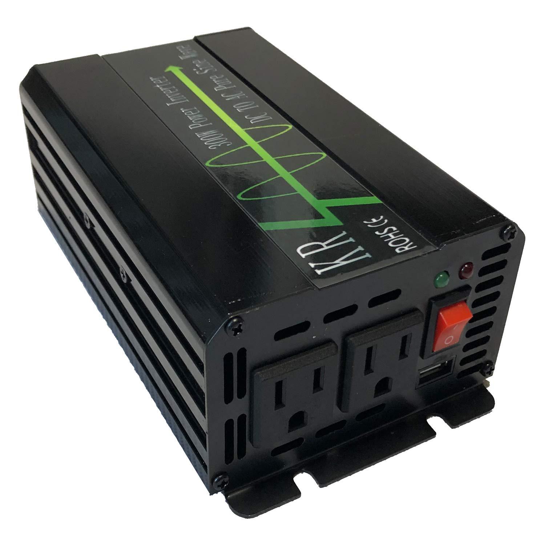 KRXNY 500W Pure Sine Wave Power Inverter 24V DC to 110V AC Converter 60HZ with USB Port for Car/RV/Off Grid Solar System by KRXNY