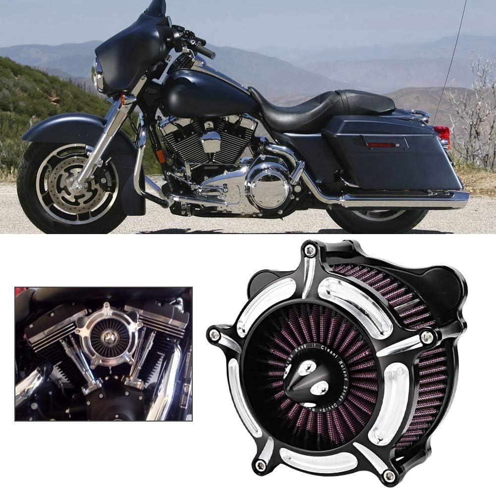 Terisass Luftfilter Aluminium Motorrad Luftfilterfilter Motorrad Modifiziert Ansaugluftfilter Kit Ersatz f/ür Flhx Carretera Rey FXDLS FLSTNSE FLSTSE FXSBSE