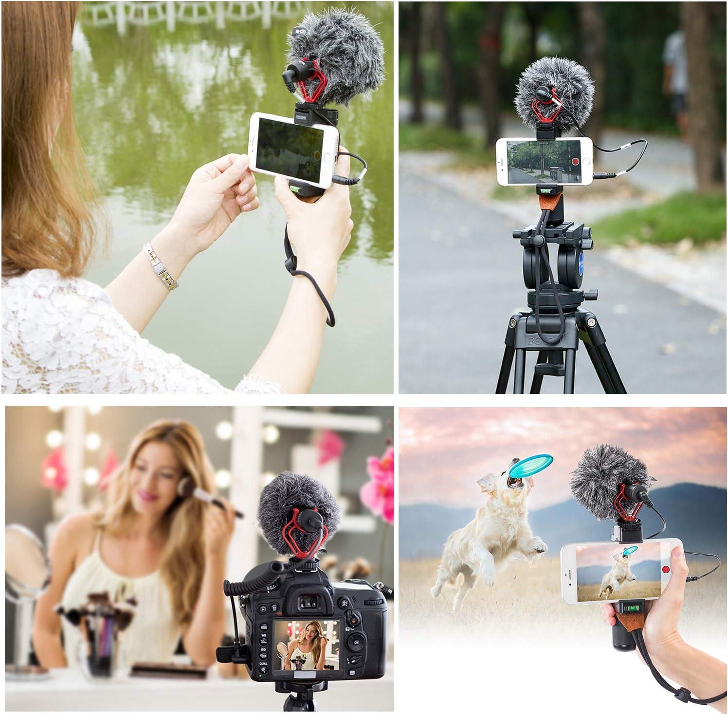 Sevenoak 3.5mm Cardiod Mini Mic for iPhone X 8 8 Plus 7 6 6s iOS Andrioid LG Mac Tablet Canon DSLR Camera Camcorder YouTube Video Shotgun Microphone Smartphone Vlog