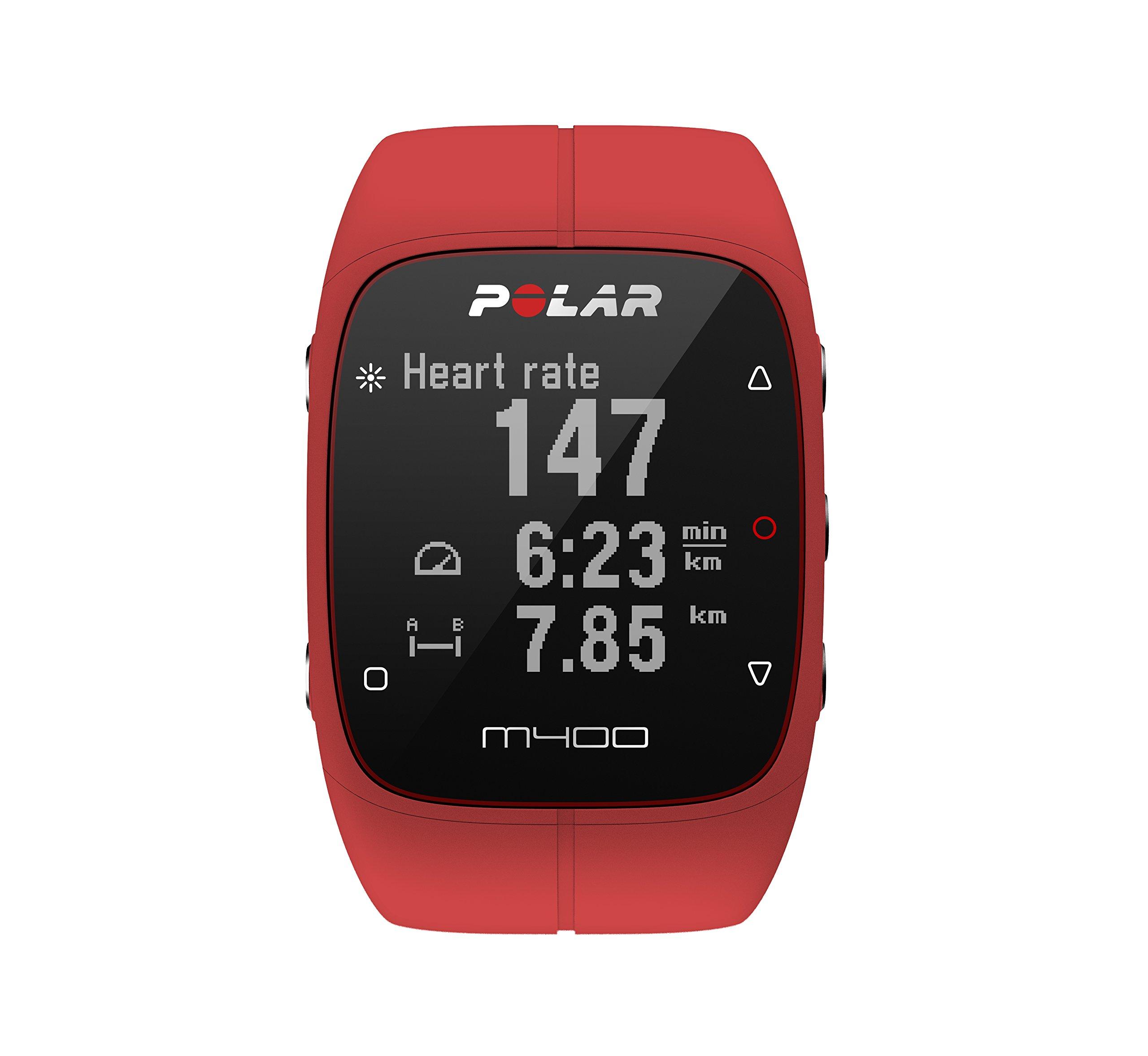 Polar M400, Orologio Sportivo con GPS Integrato Unisex-Adulto, Rosso, Taglia Unica product image
