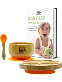 Itian Colorful Baby And Toddler Bowls With A Suction To Prevent Tipping Out /& Spilling And Attract Babies To Eat By Themselves Set Of 3