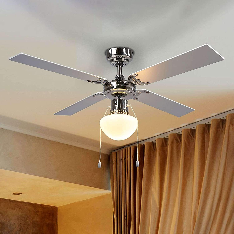 Ventilador de techo con lámpara Milana (Moderno) en Blanco hecho ...