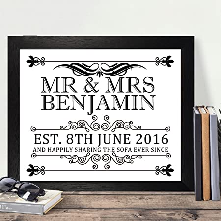 Personalised Presents Gifts For Wife Husband Him Her Wedding