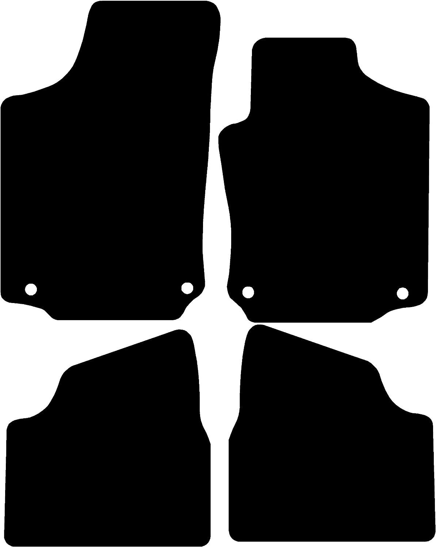 Premium Connected Essentials CEM650 Car Mat Set Black with Black Trim