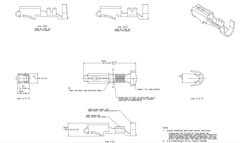 Pack of 15 Delphi Metri-Pack 280 Series Female Terminal Gauge Size 10-12 GA