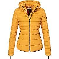 MARIKOO Amber winterjas voor dames, gewatteerde jas, XS-XXL