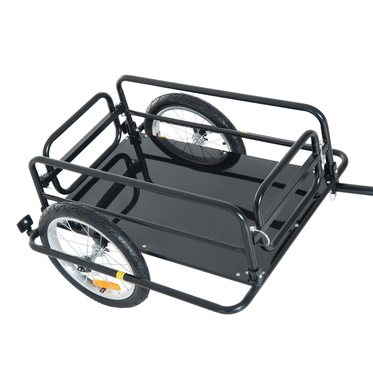 Associated product image for Aosom Folding Bicycle Cargo Trailer Utility Bike Cart Carrier