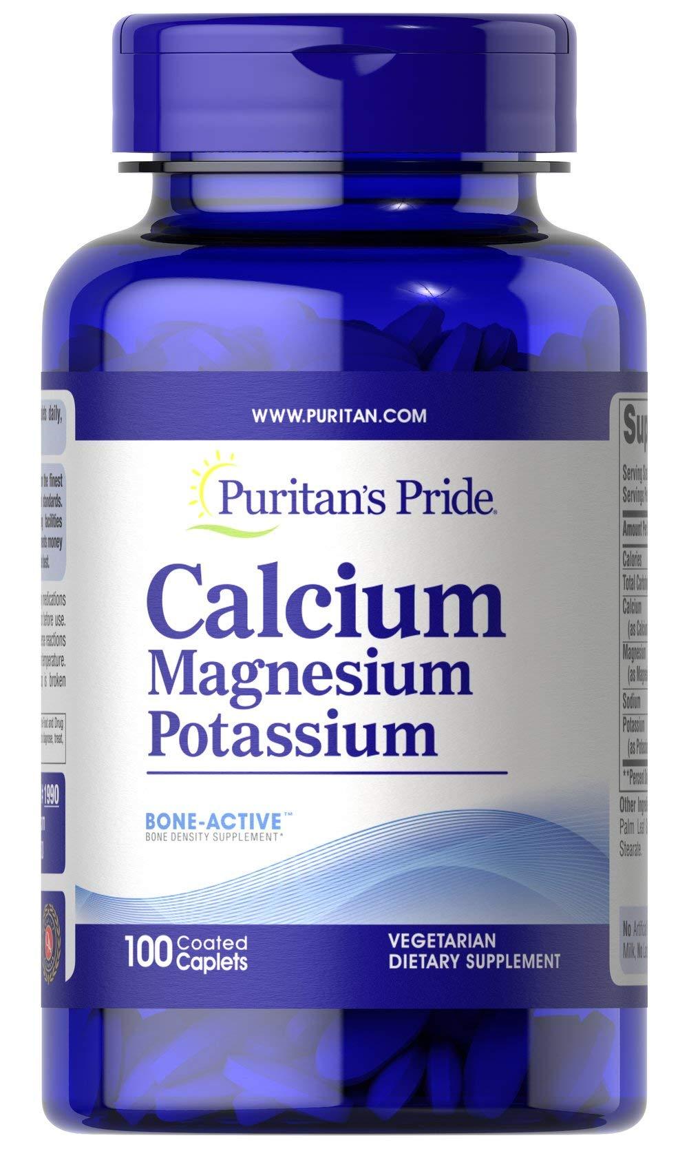 Puritan's Pride Calcium Magnesium and Potassium-100 Caplets