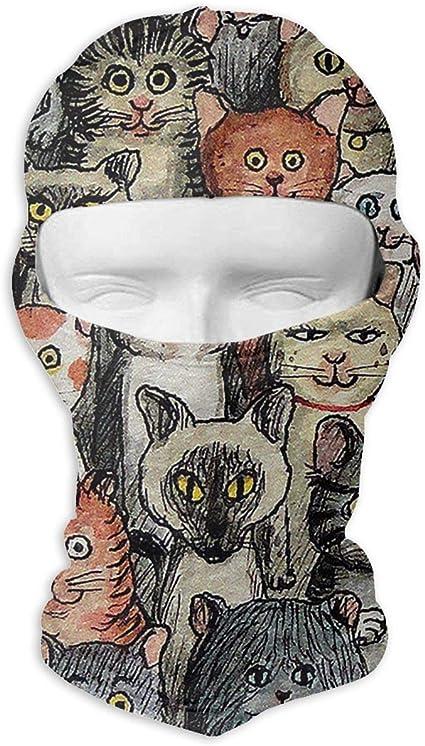 Amazon Com Cute Cartoon Cats Full Face Sun Ski Mask Unisex Wrap