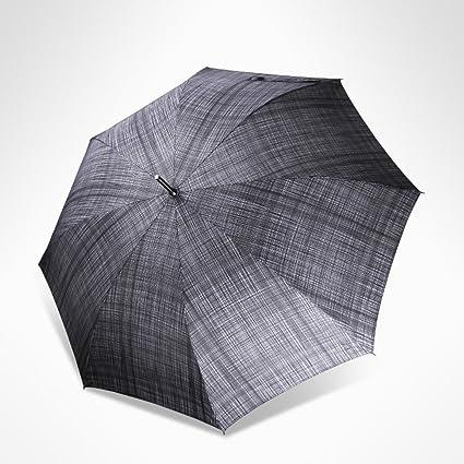 Paraguas paraguas Comercio enrejado Mango largo automático hombres y mujeres Resistencia al viento Soleado lluvia Doble