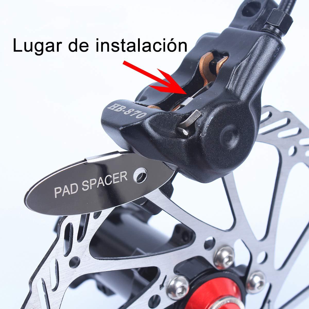 Autoway 2 Pares Bicicleta de Monta/ña Ciclismo de Pastillas de Freno de Disco para Shimano M375 M445 M446