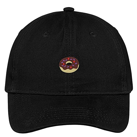 ca9937493f7 Trendy Apparel Shop Donut Embroidered Low Profile Cotton Cap Dad Hat - Black