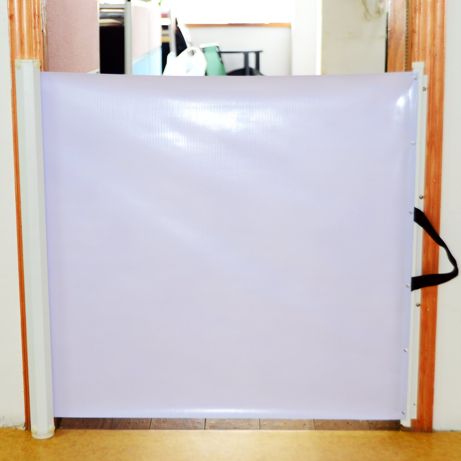 PawHut Retractable Safety Gate Dog Pet Baby Kids Barrier Folding Protector  Home Doorway Room Divider Stair Guard White 115Lx82.5Hcm: Amazon.co.uk: Pet  ...