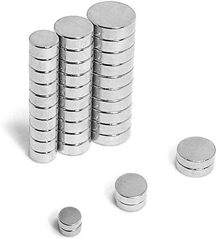 Imanes de Neodimio 10 X 5mm Super Imán Alta Fuerza Adhesiva Disco N35 5 Piezas