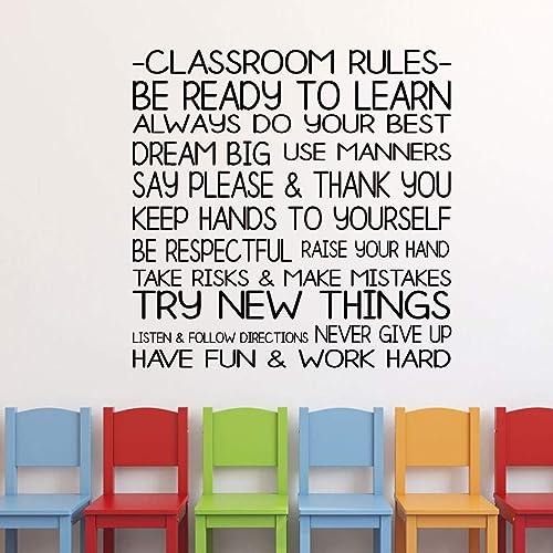 Amazon Com Classroom Decoration Classroom Rules Vinyl Wall