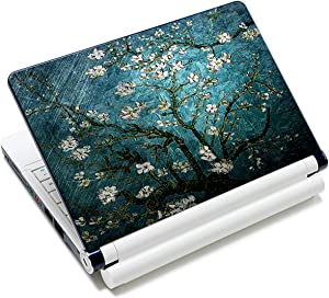 Blue Apricot Flower 12.1 13 13.3 14 15 15.4 15.6 Inches Personalized Laptop Skin Sticker Decal Universal Netbook Skin Sticker Reusable Notebook PC Art Decal Protector Cover Case by AORTDES