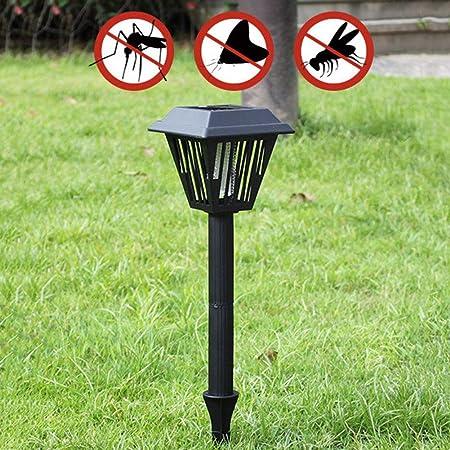 LLLKKK - Luz solar antimosquitos para exteriores, impermeable, para el hogar, patio, jardín, césped, antimosquitos, 10 unidades, color negro: Amazon.es: Hogar