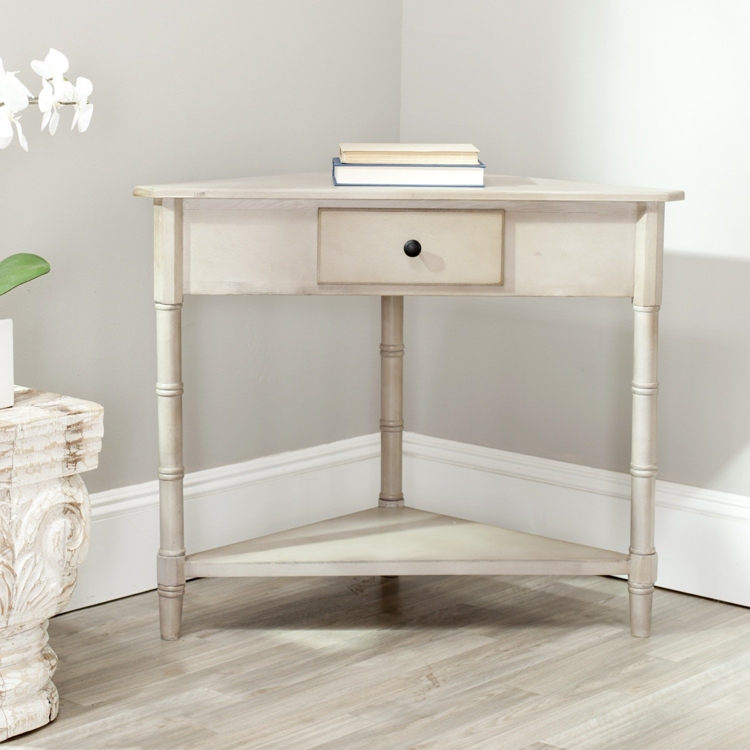 Corner console table amazoncom safavieh american home collection corner table geotapseo Gallery