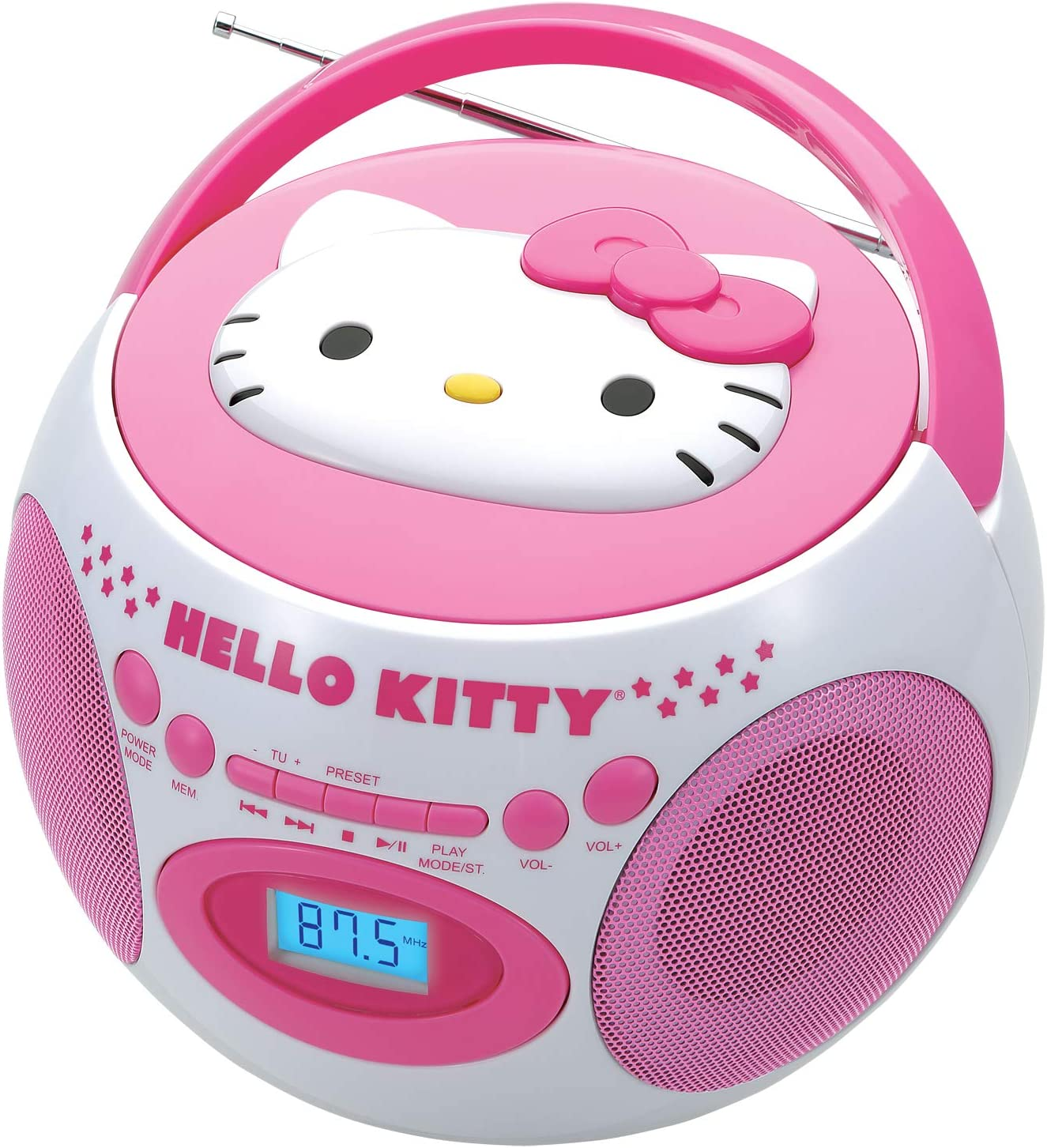 Hello Kitty Portable AM//FM Stereo CD Boombox
