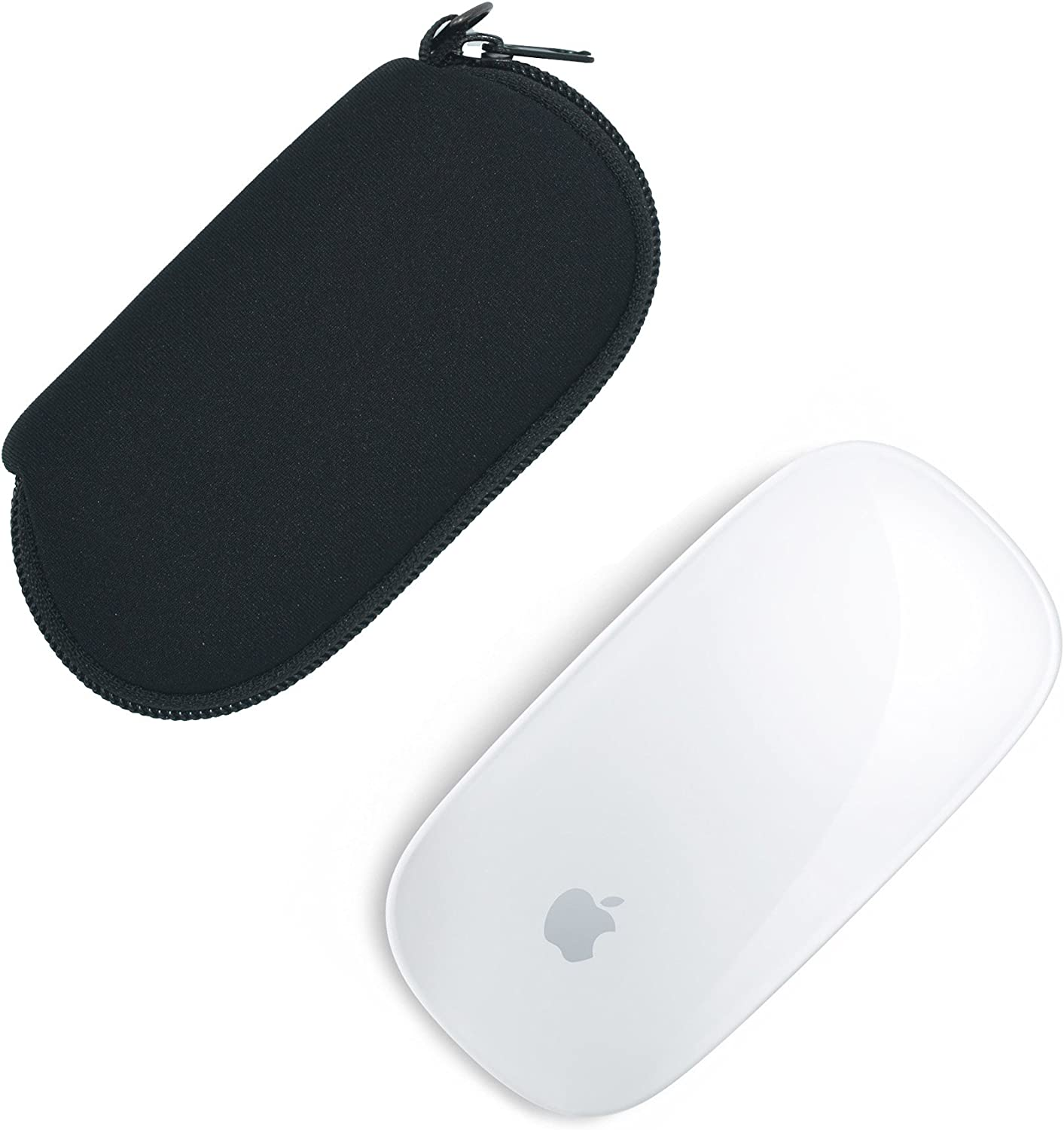 Case Wonder 2 Piezas de Neopreno de Almacenamiento Llevar Bolso Caso de la Caja Guardapolvo para Apple Magic Mouse (I y II de 2da generación) Ratón inalámbrico Bluetooth