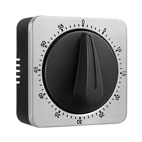 KeeQii Temporizador de Cocina, Temporización de 60 Minutos con Alarma de 80 dB, Temporizador de imán Suave para pegarse en el suprificie de Hierro