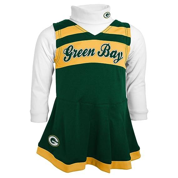 9c0cbb29 Outerstuff NFL Girls Cheer Jumper Dress with Turtleneck Set