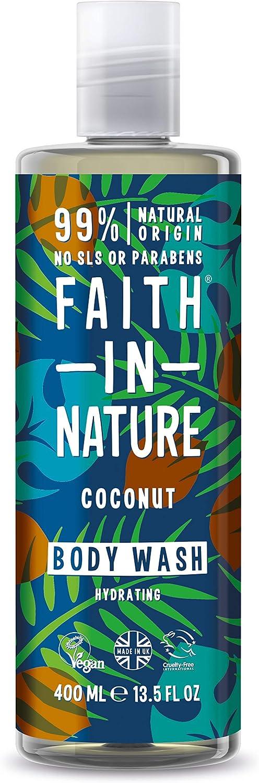 Faith in Nature Shower Gel Foam Bath Coconut 13 5 fl oz 400 ml
