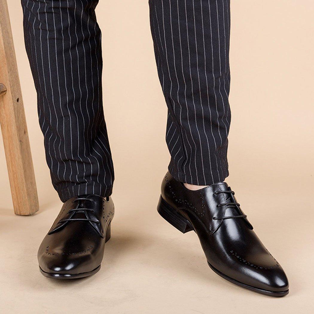 GAOLIXIA Herren Echtes Leder Geschäft Casual Casual Geschäft Schuhe Arbeitsschuhe Britischen Formalen Schuhe Mode Kleid Hochzeit Bankett Schuhe Große Größe dfde43