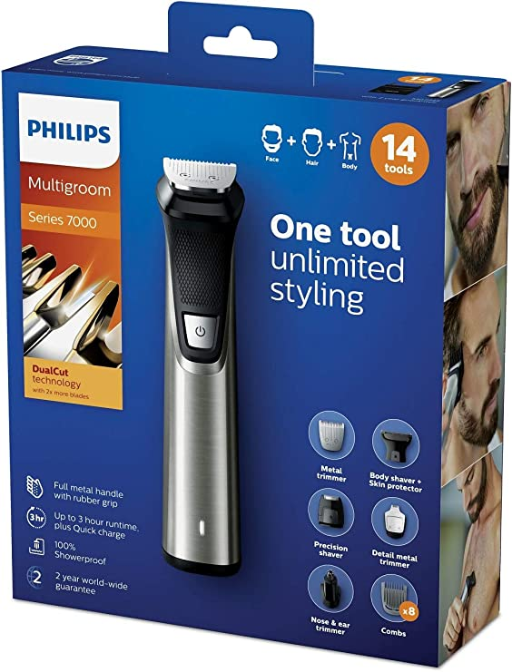 Philips MULTIGROOM Series 7000 MG7745/15 cortadora de pelo y ...