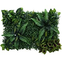 Baosity Artificial Plants Fake Flower Wall Panels for Weeding Venue Stage Backdrop Decor