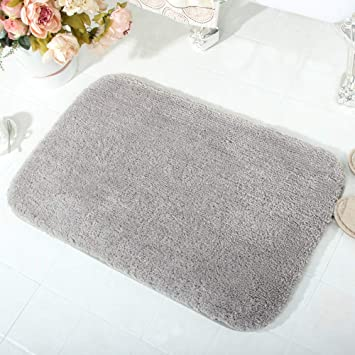 Amazon Com Luxury Gray Thick Small Bath Rug For Bathroom Rugs Non