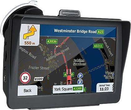 KKmoon HD GPS Navegador de 7 Pulgadas para Coche, 8G Guía ...