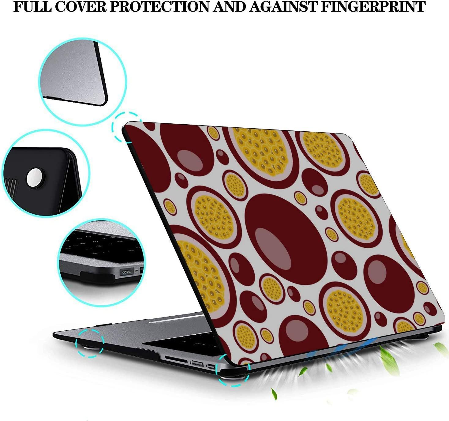 MacBook Pro Laptop Cover Summer Sweet Sour Passion Fruit Drink Plastic Hard Shell Compatible Mac Air 11 Pro 13 15 Laptop Case Mac Protection for MacBook 2016-2019 Version