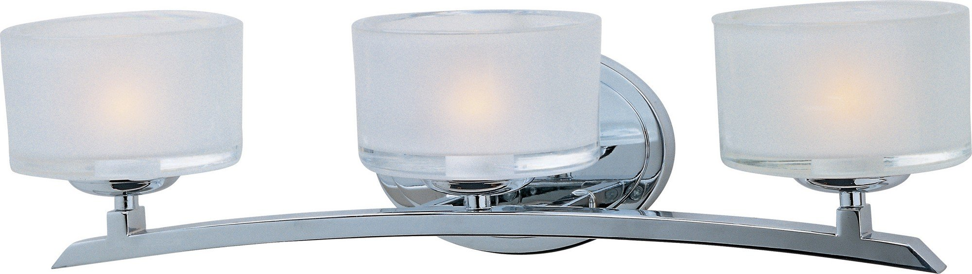 Maxim 19053FTPC Elle 3-Light Bath Vanity, Polished Chrome Finish, Frosted Glass, G9 Frost Xenon Xenon Bulb , 100W Max., Dry Safety Rating, 2700K Color Temp, Standard Dimmable, Glass Shade Material, 1150 Rated Lumens