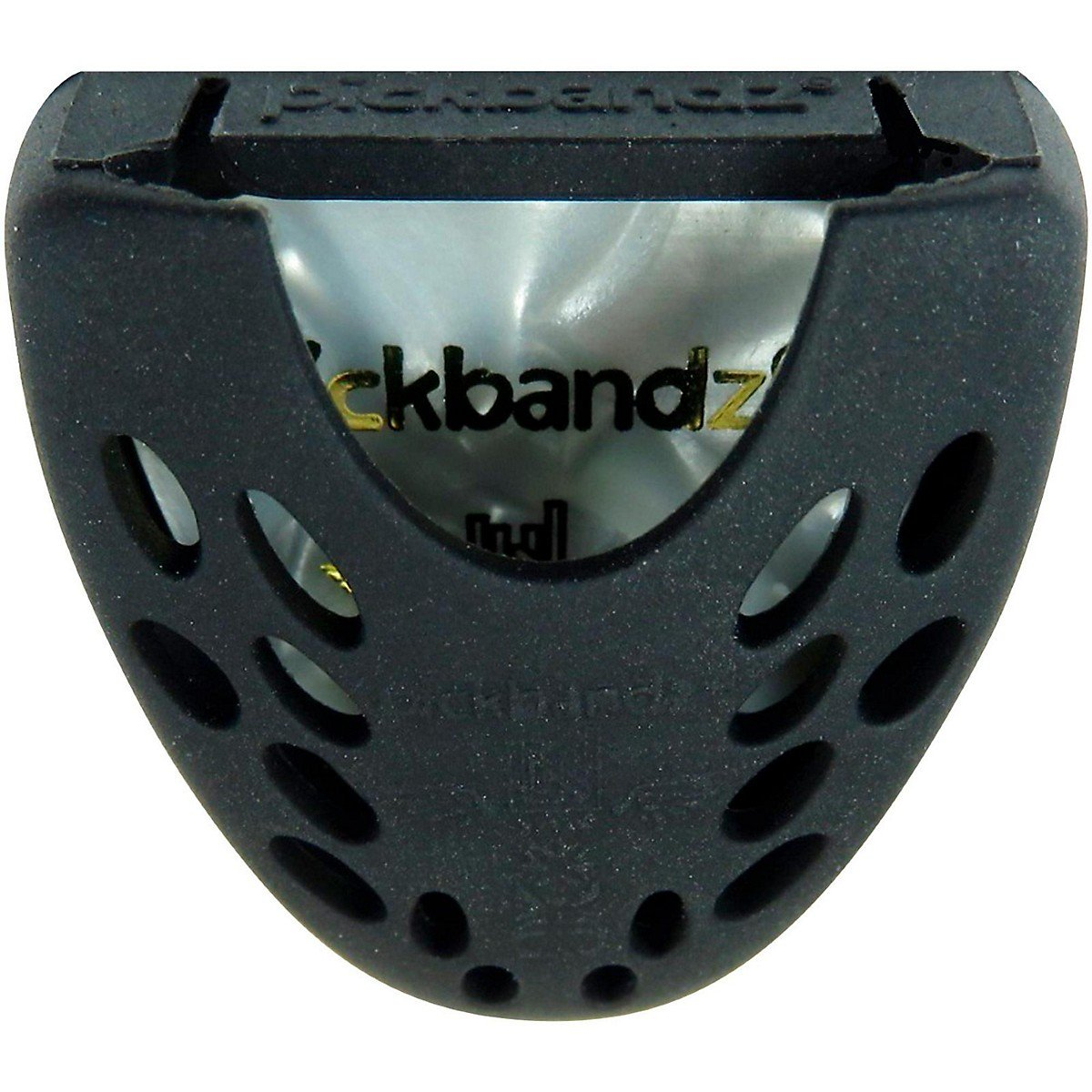 Guitar Pick Holder by Pickbandz® in Black Stick-it-Pick-itTM has a 3M non-marring adhesive on the back 854836003359