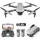 Fällbar GPS-drone med 4K FHD-kamera och 2-axliga gimbal för vuxna, professionell borstlös quadcopter, följ mig, 2km flyg…