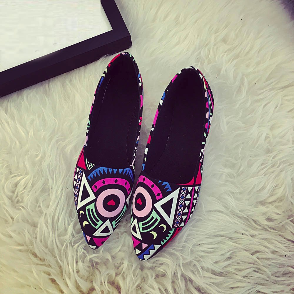 Women Loafers ? Vanvler Lady Slip On Flat Shoes Ballet Doug Shoes All Seasons by Vanvler ❤ Women Shoes (Image #3)