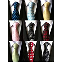 YanLen Men's Lot 9 Pcs Classic Tie Necktie Woven Jacquard Neck Ties