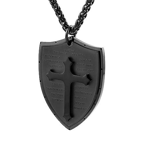 Hzman shield armor of god ephesians 616 17 faith cross stainless hzman shield armor of god ephesians 616 17 faith cross stainless steel aloadofball Images