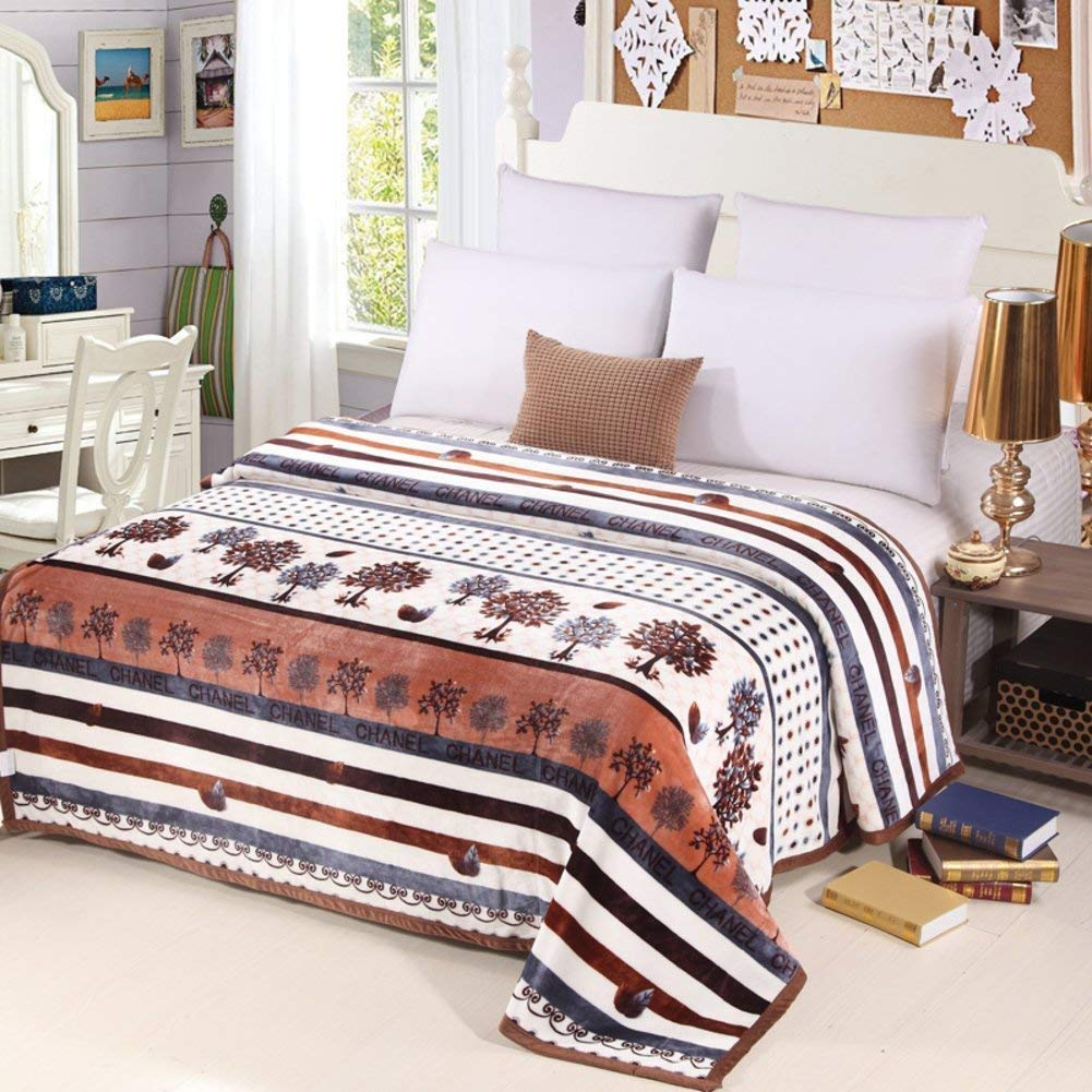 Yunyilian 冬の厚くなるフランネル毛布、暖かい単一の二重タオルのキルト毛布 (Color : 180x200cm(71x79inch), サイズ : N) B07QSR5LS5 180x200cm(71x79inch) N