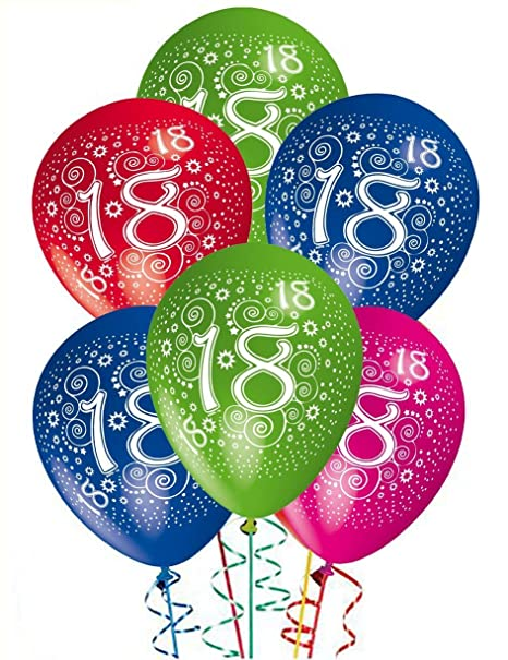 Ocballoons Palloncini Compleanno 18 Anni Addobbi E Decorazioni Per