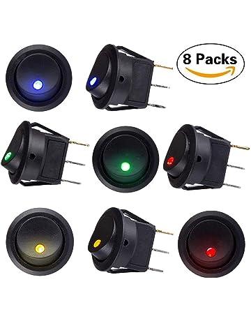 Sunerly - 8 interruptores de encendido/apagado automático con interruptor SPST, con 4 luces