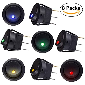 Marine Hardware Nice Rocker Toggle Switch On-off-on 4 Pins 12v Dc Car Boat Automobiles Waterproof Led Latching Switches Wide Varieties