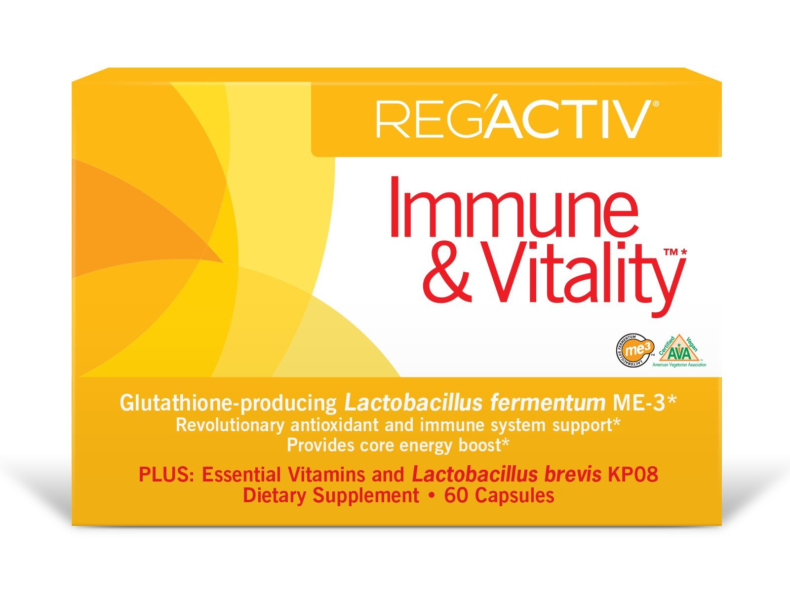 Reg'Activ Immune & Vitality with Lactobacillus fermentum ME-3, brevis KP08, L-Carnatine tartrate